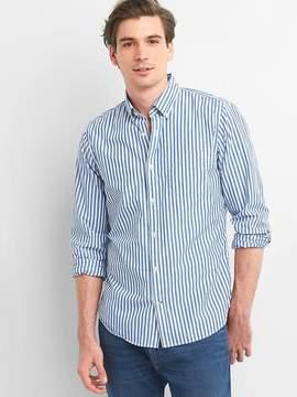 Gap True wash poplin bengal stripe slim fit shirt