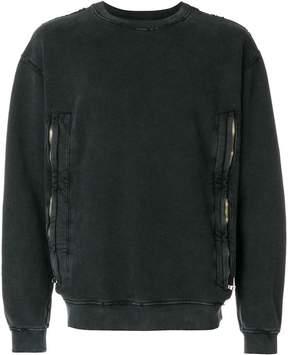 RtA double zip sweatshirt