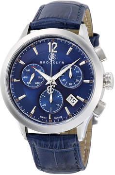 Dakota Brooklyn Watch Co. Brooklyn Swiss Quartz Chronograph Blue Dial Men's Watch