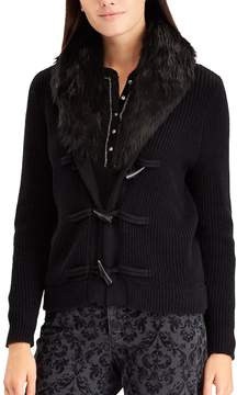 Chaps Women's Faux-Fur Toggle Cardigan