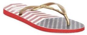 Havaianas Chevron Stars and Striped Flip Flops