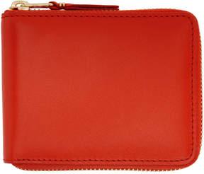 Comme des Garcons Wallets Orange Classic Zip Wallet