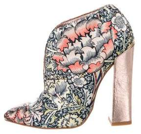 Just Cavalli Printed Satin Ankle Boots
