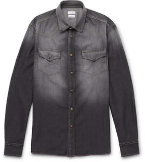 Brunello Cucinelli Washed-Denim Western Shirt