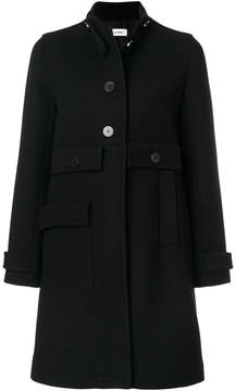 Courreges button-down fitted coat
