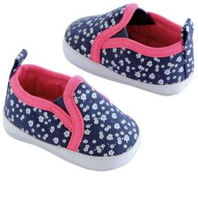 Osh Kosh Baby Girl Floral Slip-On Crib Shoes