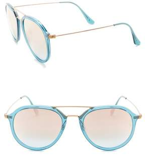 Ray-Ban Highstreet 53mm Round Sunglasses