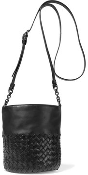 Bottega Veneta - Intrecciato Leather Bucket Bag - Black