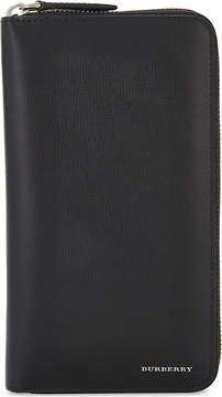 Burberry leather zip-around wallet - BLACK - STYLE