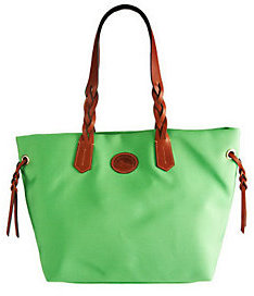 Dooney & Bourke Nylon Shopper with Braided Handles - ONE COLOR - STYLE
