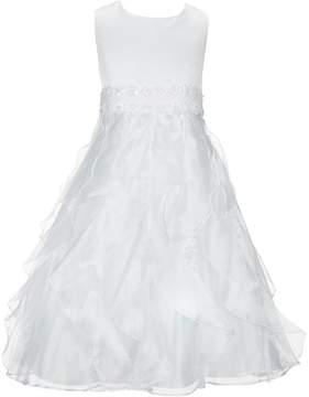 Bonnie Jean Big Girls 7-16 Satin/Organza Fit-And-Flare Dress