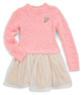 Billieblush Little Girl's and Girl's Textured Sweater Dress