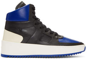 Fear Of God Black and Blue B-Ball High-Top Sneakers
