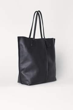 H&M Leather Shopper - Black