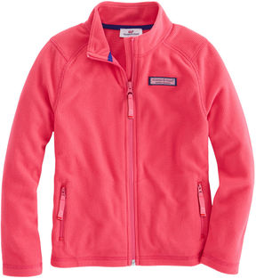 Vineyard Vines Girls Performance Grid Full Zip Fleece