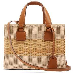 Mark Cross Manray Small Wicker Basket Bag - Womens - Tan Multi