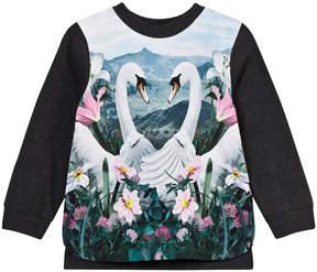 Molo Elvira Navy Swans Sweater