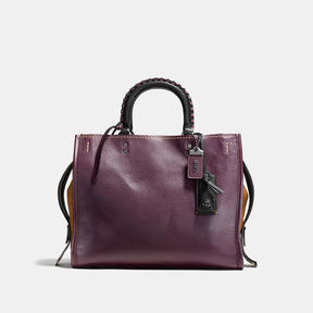 COACH Coach Rogue With Whipstitch Handle - BLACK COPPER/OXBLOOD - STYLE