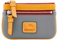 Dooney & Bourke Patterson Leather Small Coin Case - GREY - STYLE