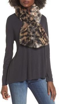 Sole Society Women's Leopard Faux Fur Stole