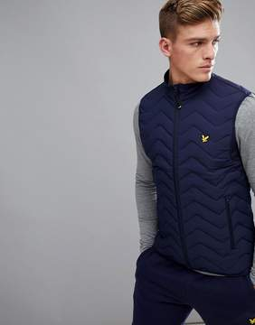 Lyle & Scott Fitness Foulkes Vest In Navy