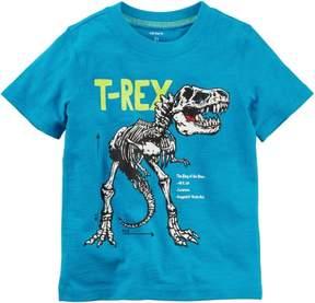 Carter's Little Boys T-Rex Skeleton T-shirt