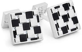 Ike Behar Men's Onyx Geometric Cuff Links