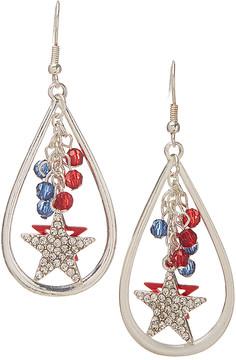 Carole Beaded Crystal Star Teardrop Earrings