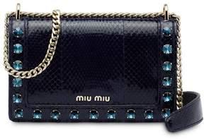 Miu Miu embellished foldover bag