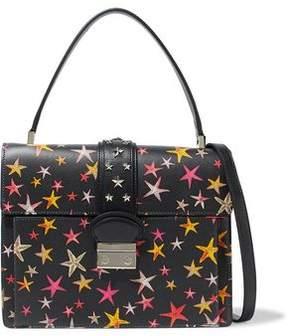 RED Valentino Studded Printed Leather Shoulder Bag