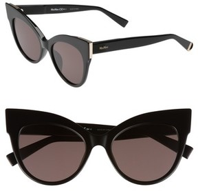 Max Mara Women's Anita 52Mm Cat Eye Sunglasses - Black