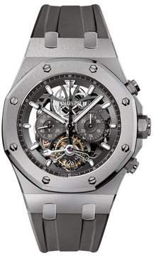Audemars Piguet Royal Oak Tourbillon Slate Grey Skeleton Dial Men's Watch