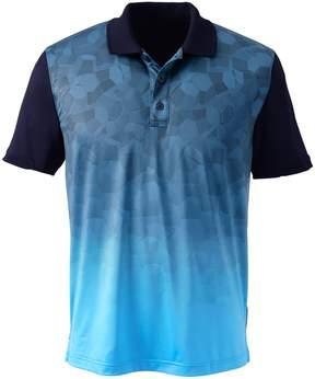 Lands' End Lands'end Men's Short Sleeve Tailored Print Front Polo Shirt