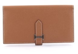 Hermes Pre-owned: Bearn Wallet Epsom Long. - BROWN - STYLE