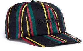 Palm Angels 'Rastafari' regimental stripe baseball cap
