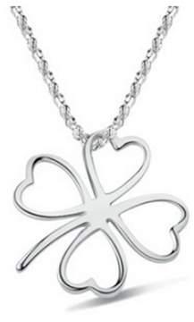Alpha A A Designer Inspired Clover Shaped Necklace