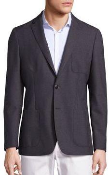 Michael Kors Slim Fit Wool Blazer