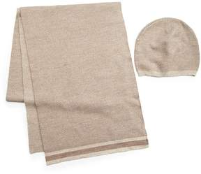 Saks Fifth Avenue Collection Men's Cashmere Hat & Scarf Set