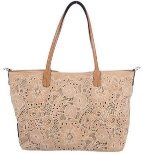 Valentino Leather-Trimmed Tote