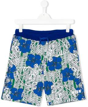 MSGM Hawaiian print swim shorts