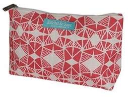 Clinique By Satchel & Sage Pink Print Cosmetic Makeup Travel Bag.