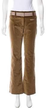 Celine Mid-Rise Velvet Pants