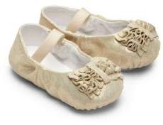 Bloch Infant's Raphaela Ruffled Metallic Leather Ballet Flats