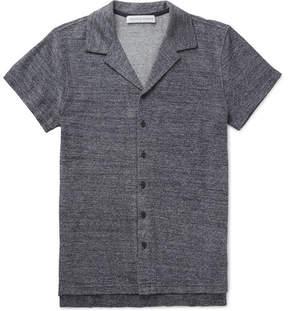 Orlebar Brown Travis Camp-Collar Mélange Cotton-Terry Shirt
