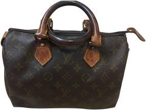 Louis Vuitton Speedy cloth handbag - BROWN - STYLE