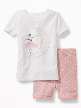 Old Navy Ballerina-Graphic Sleep Set for Toddler & Baby