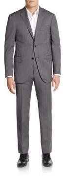 Corneliani Regular-Fit Textured Virgin Wool Suit