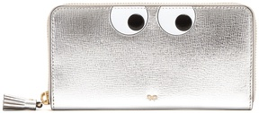 ANYA HINDMARCH Eyes zip-around grained-leather wallet