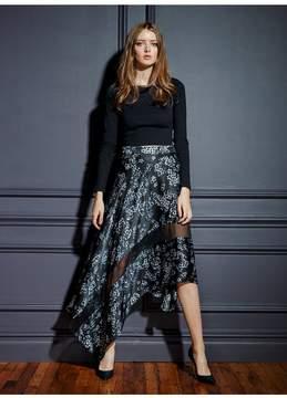 Fleur Du Mal | Handkerchief Skirt | M | Blue