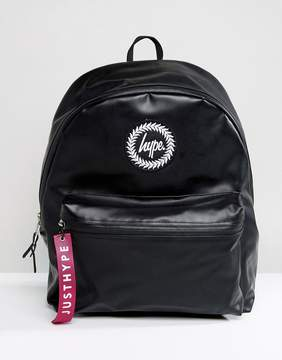 Hype Exclusive Rubberised Jet Black Backpack